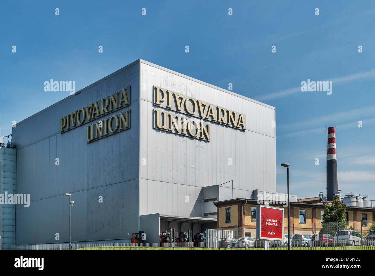 The building of the UNION brewery is located in Ljubljana, the capital of Slovenia, Europe - Stock Image