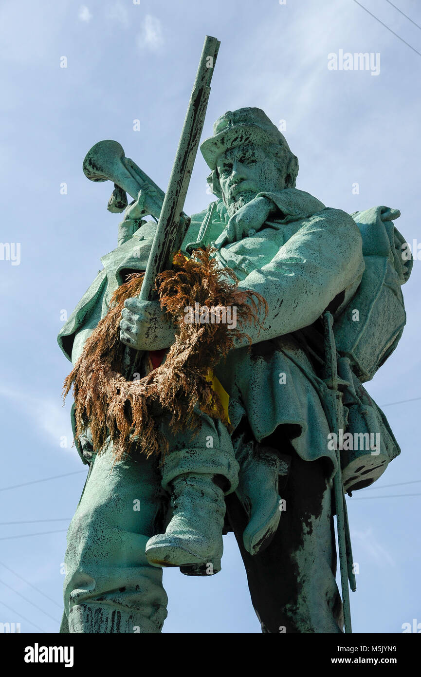Memorial of First and Second Schleswig Wars on Radhuspladsen (City Hall Square) in Copenhagen, Denmark. August 6th - Stock Image