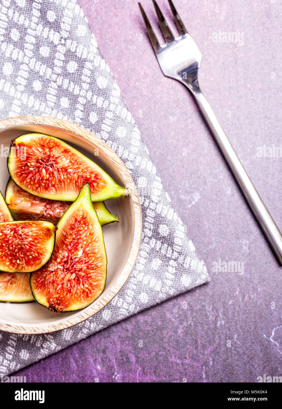 Fresh Figs on a dark background - Stock Image