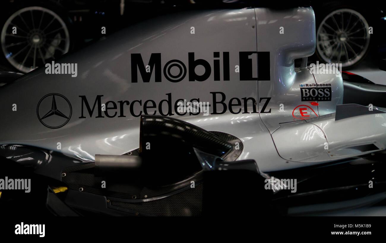 Mercedes Benz Formula 1 race car - Stock Image