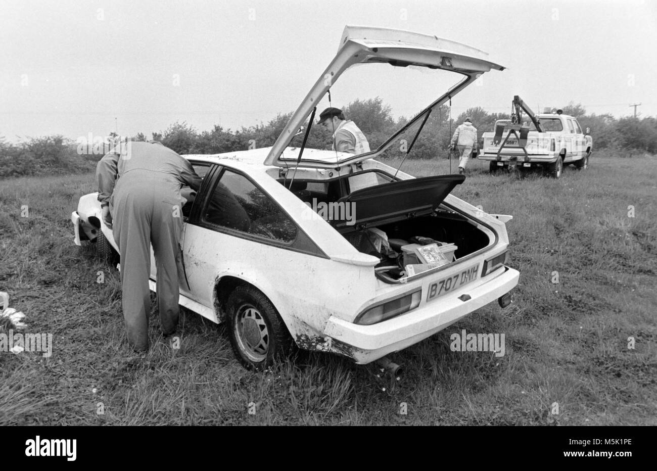 Ditch Black And White Stock Photos Images Alamy Opel Manta Gte Wiring Diagram A Stolen Car Abandoned Dumped In Upside