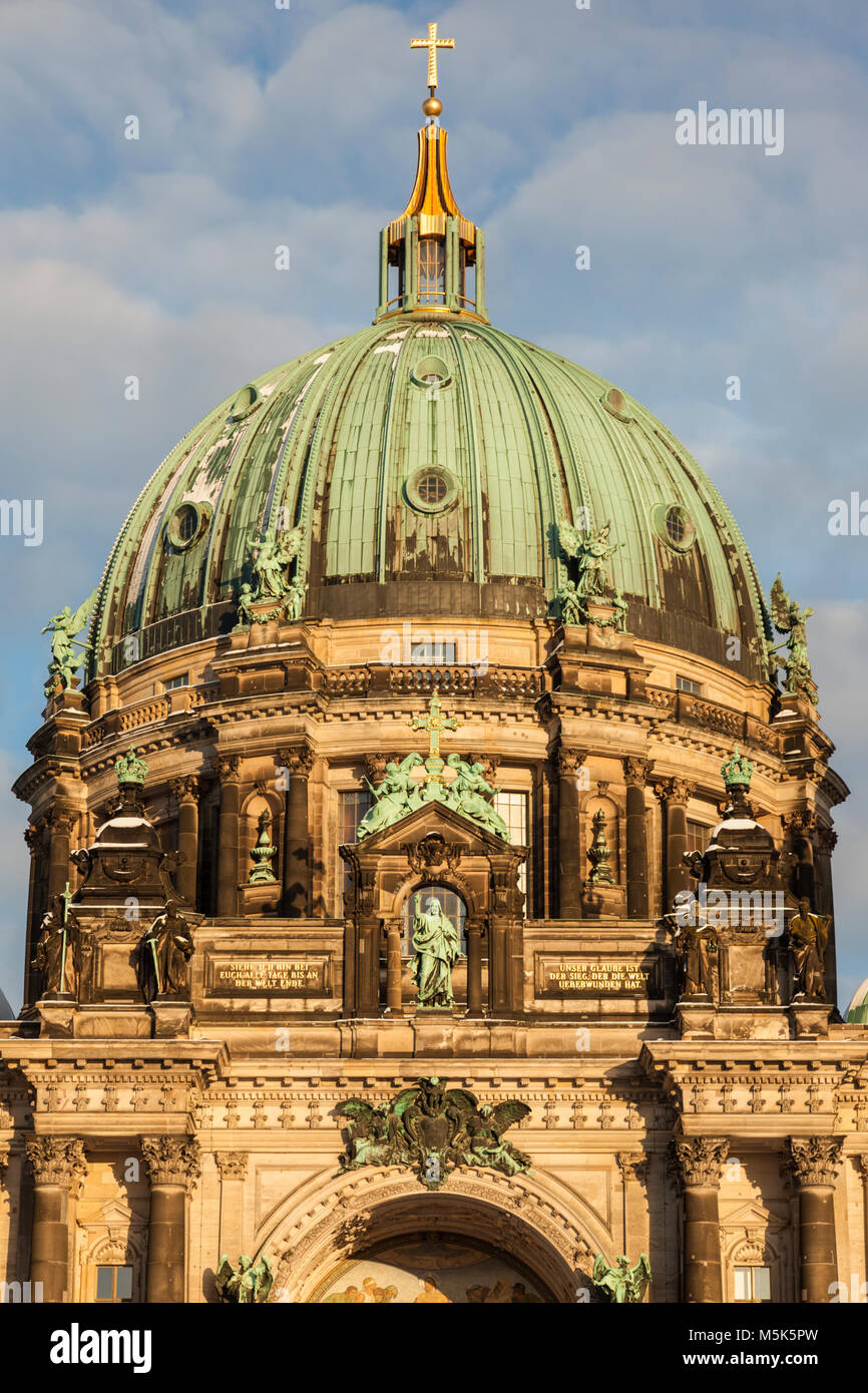 Berlin Cathedral at sunset - Evangelical Supreme Parish and Collegiate Church. Berlin, Germany - Stock Image
