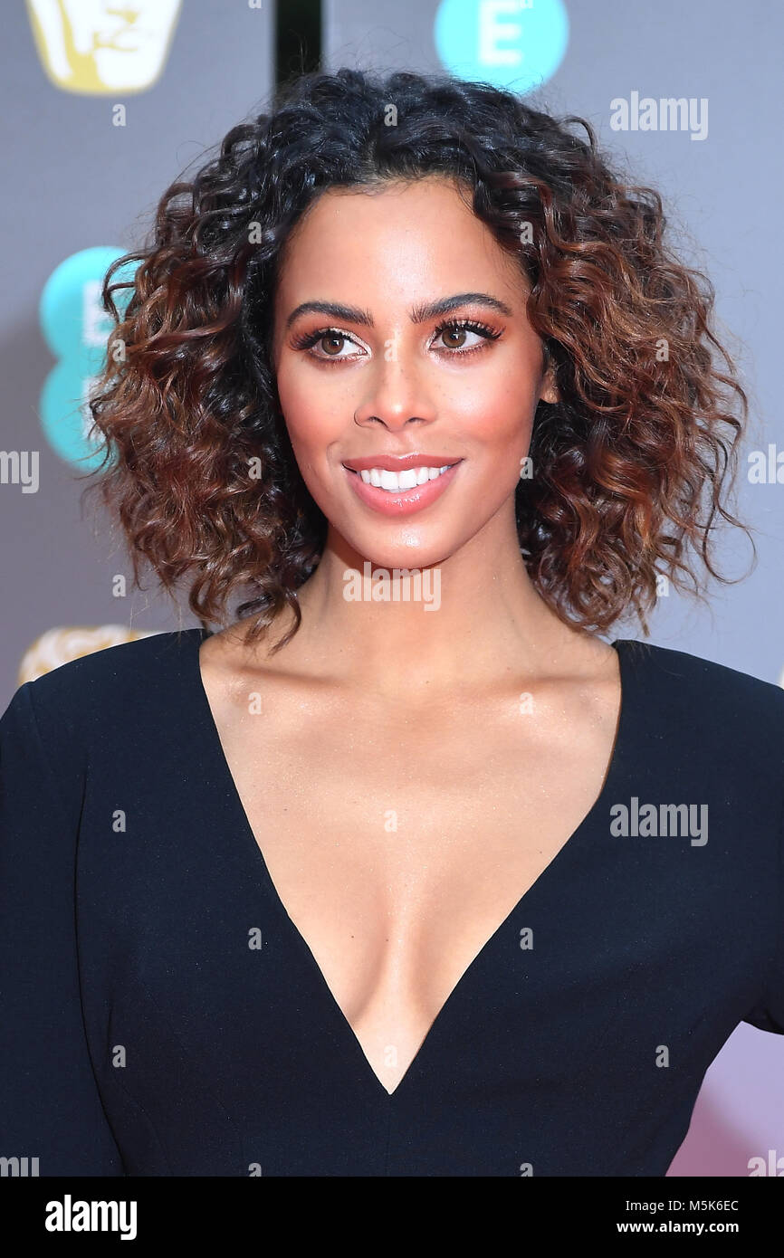 Rochelle Humes attends the EE British Academy Film Awards (BAFTA) at the Royal Albert Hall in London. 18th February - Stock Image