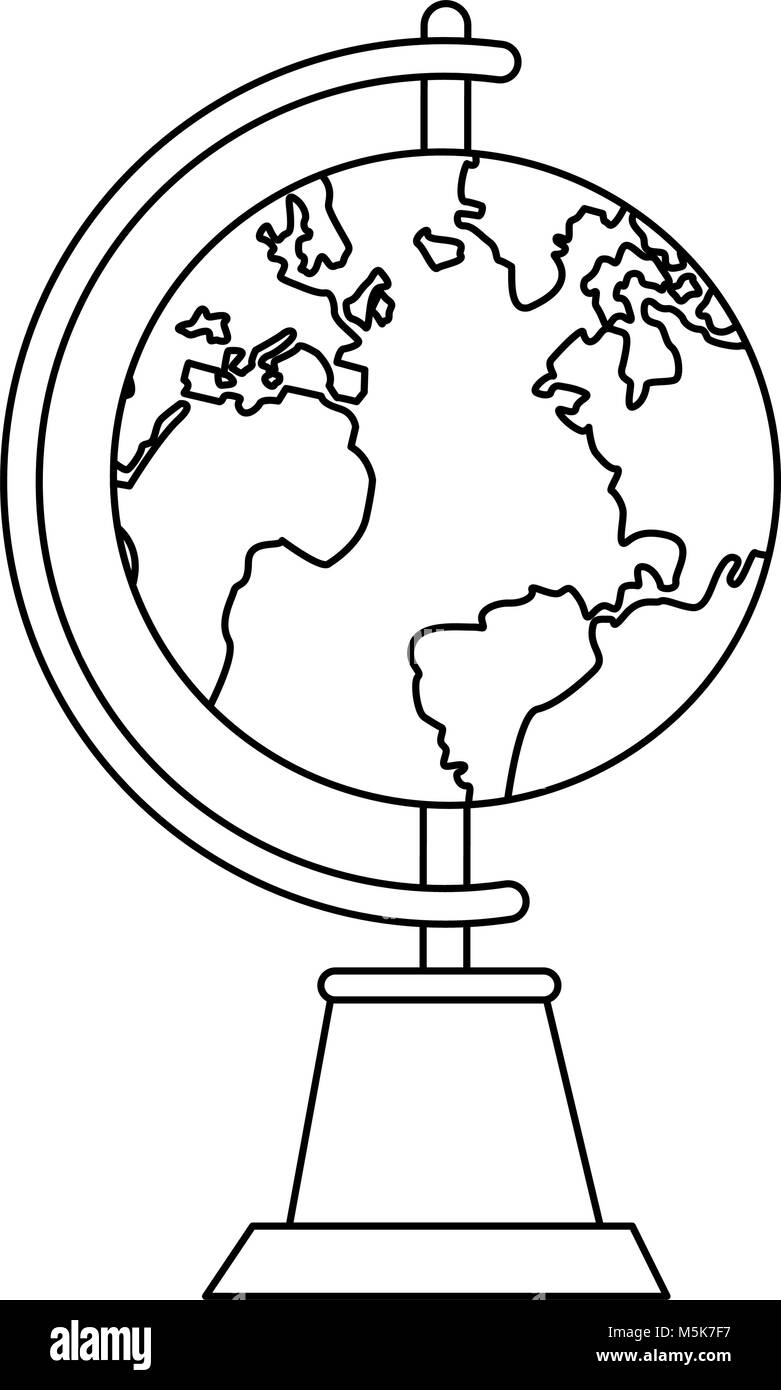 Earth globe symbol - Stock Image