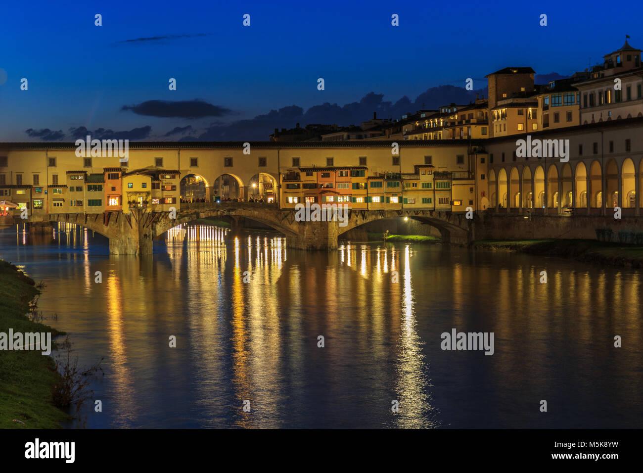 Ponte Vecchio (Florence) - Stock Image