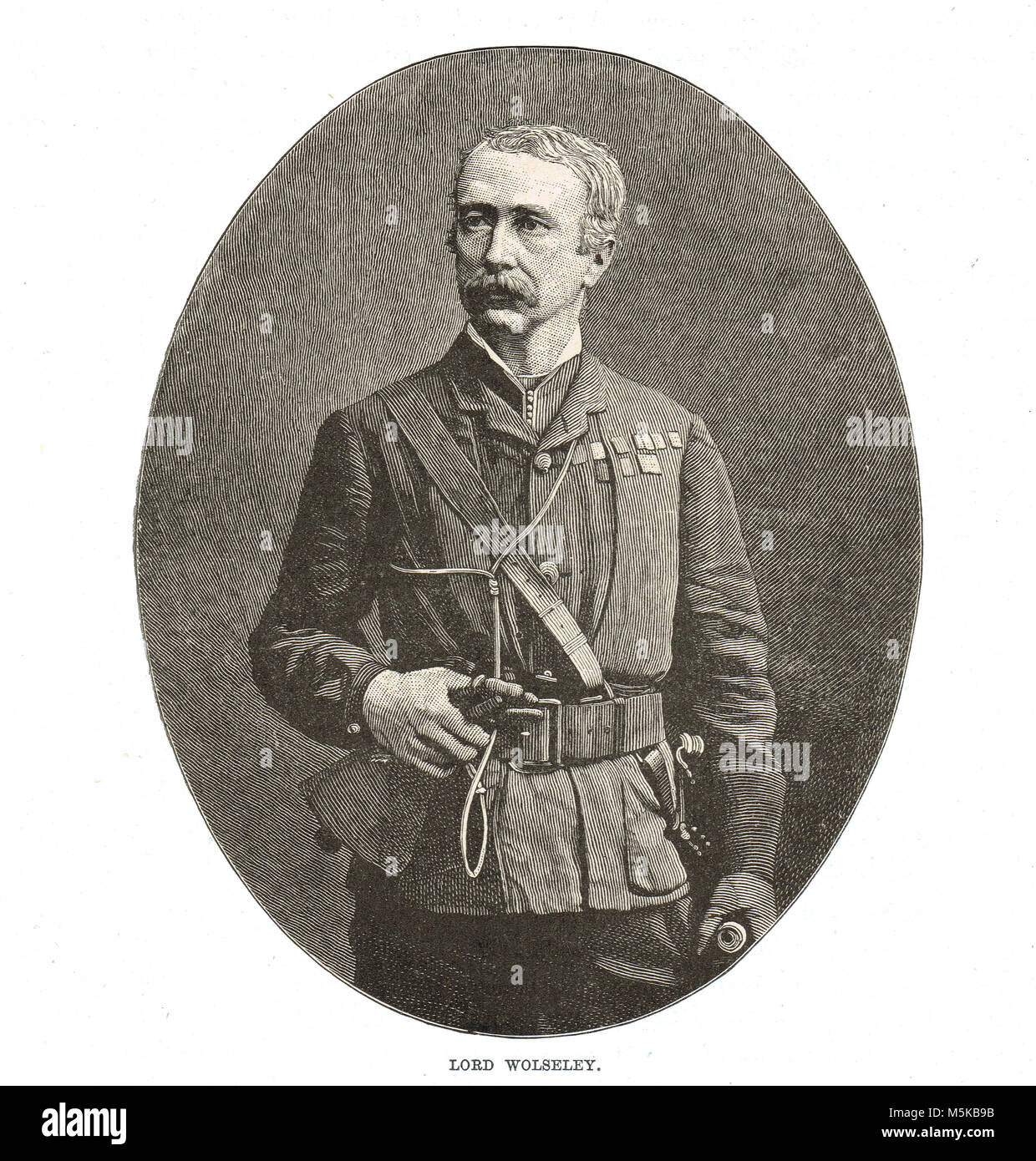 Field Marshal Garnet Joseph Wolseley, 1st Viscount Wolseley - Stock Image