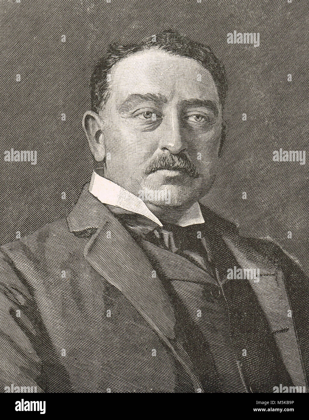 Cecil Rhodes, British imperialist, founder of the Southern African territory of Rhodesia, (present day Zimbabwe Stock Photo