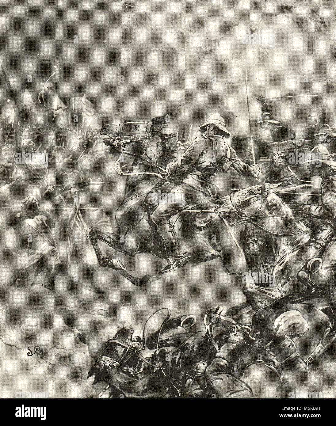 The charge of the 21st Lancers, the Battle of Omdurman, 2 September 1898 - Stock Image