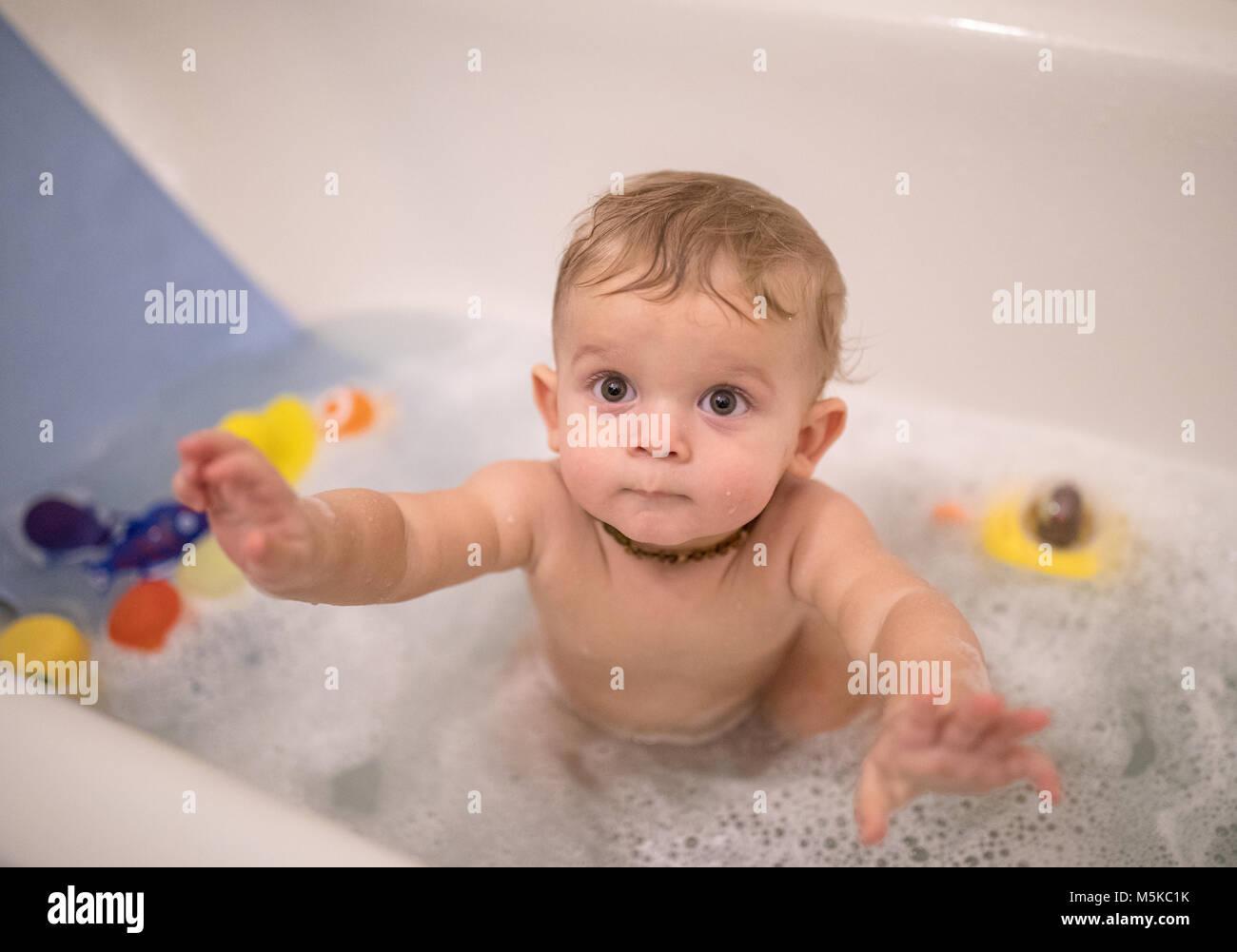 Pretty Little Girl Taking Bath Stock Photos Amp Pretty