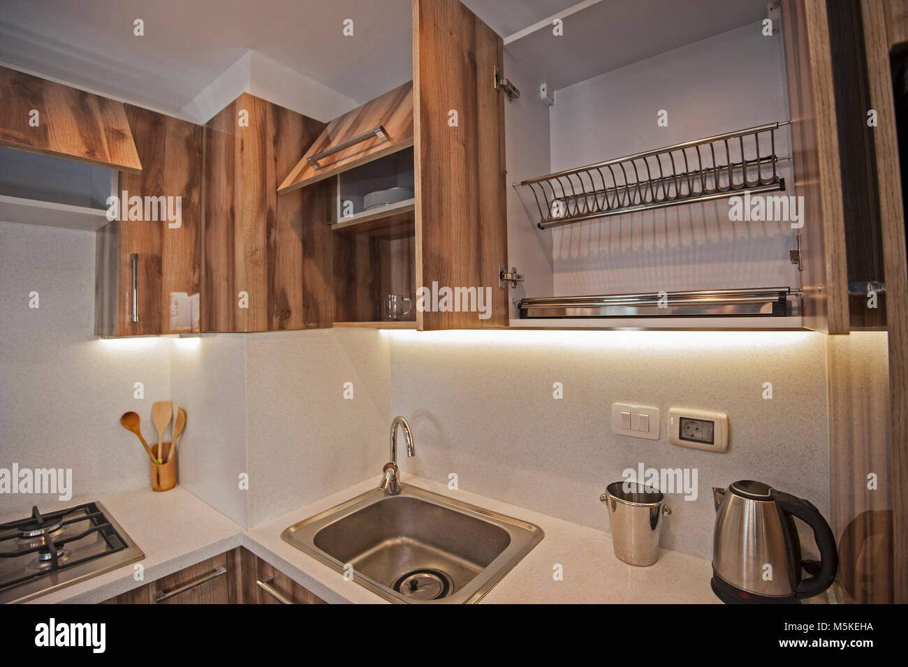 Interior Design Decor Showing Modern Kitchen And Sink In Luxury Stock Photo Alamy