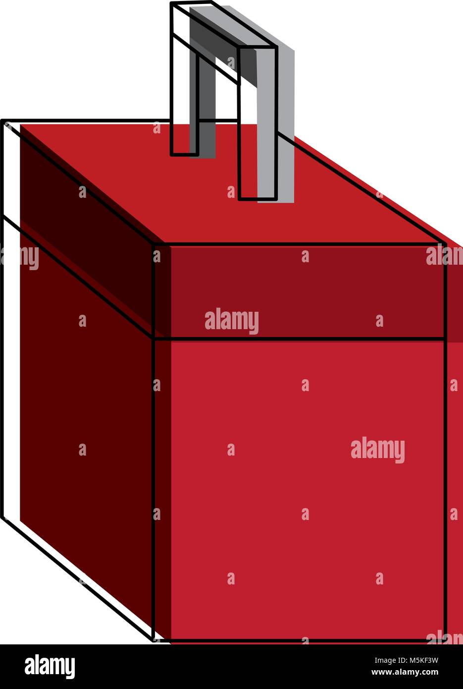 toolbox kit used for construction interiors and building - Stock Image