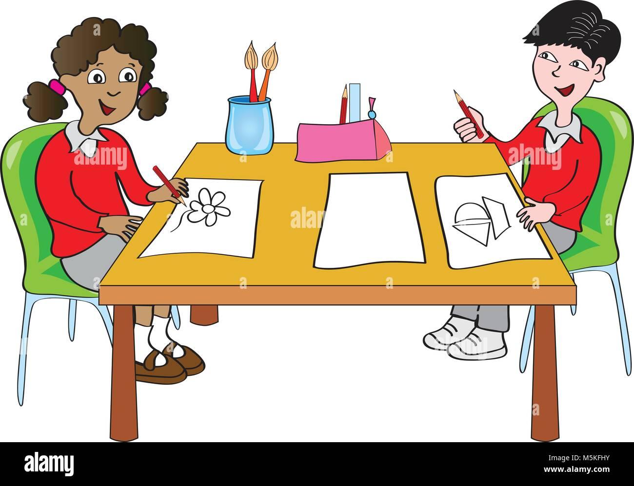 Cartoon Drawing Class Stock Photos & Cartoon Drawing Class ...