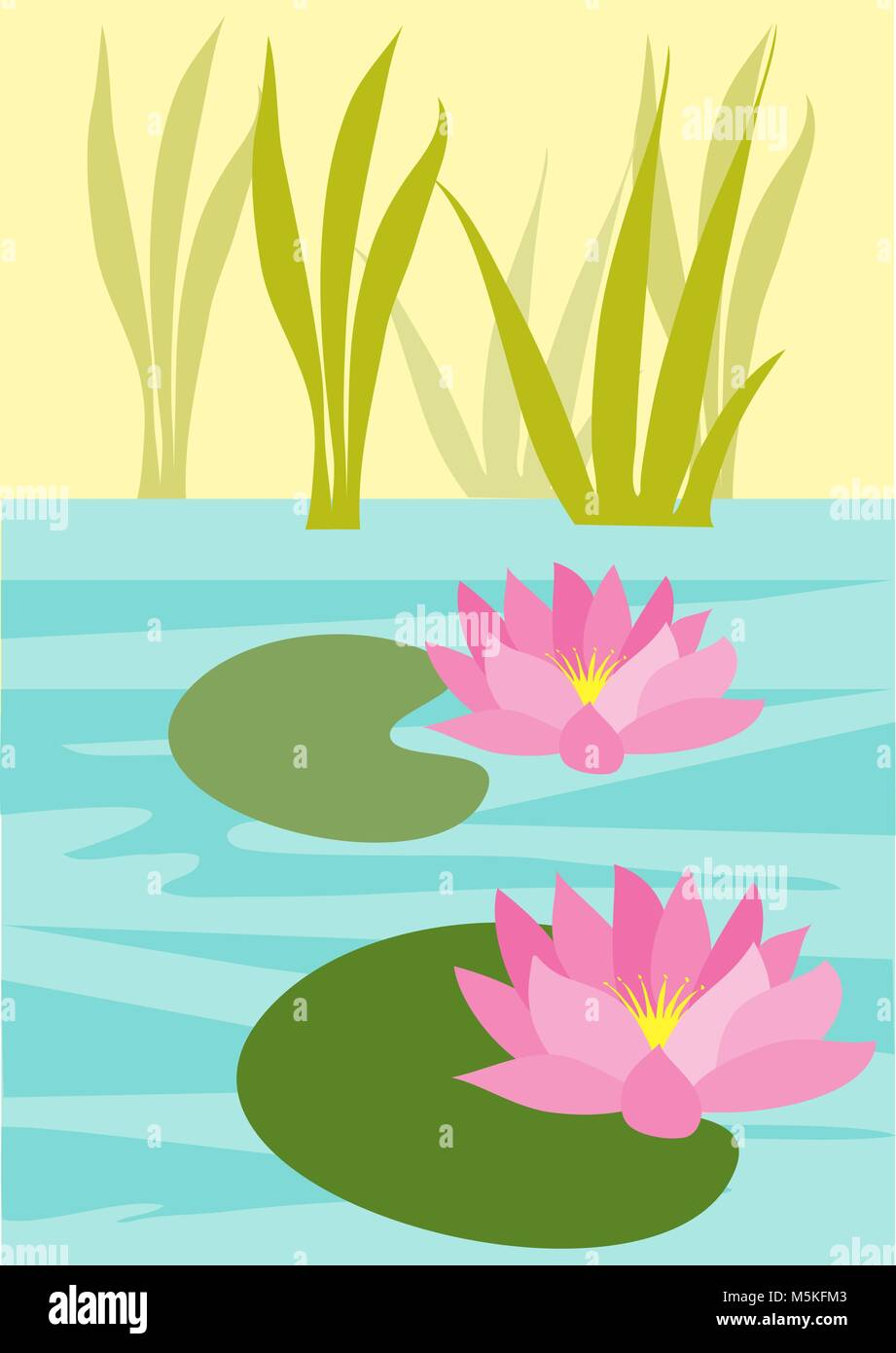 cute butterfly flies over reeds and water lilies coloring.html