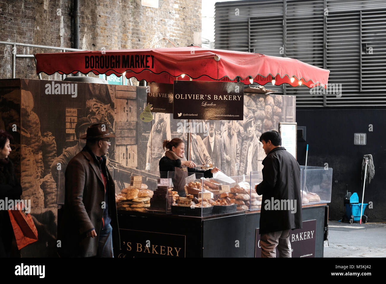 Borough Market, London, United Kingdom - Stock Image