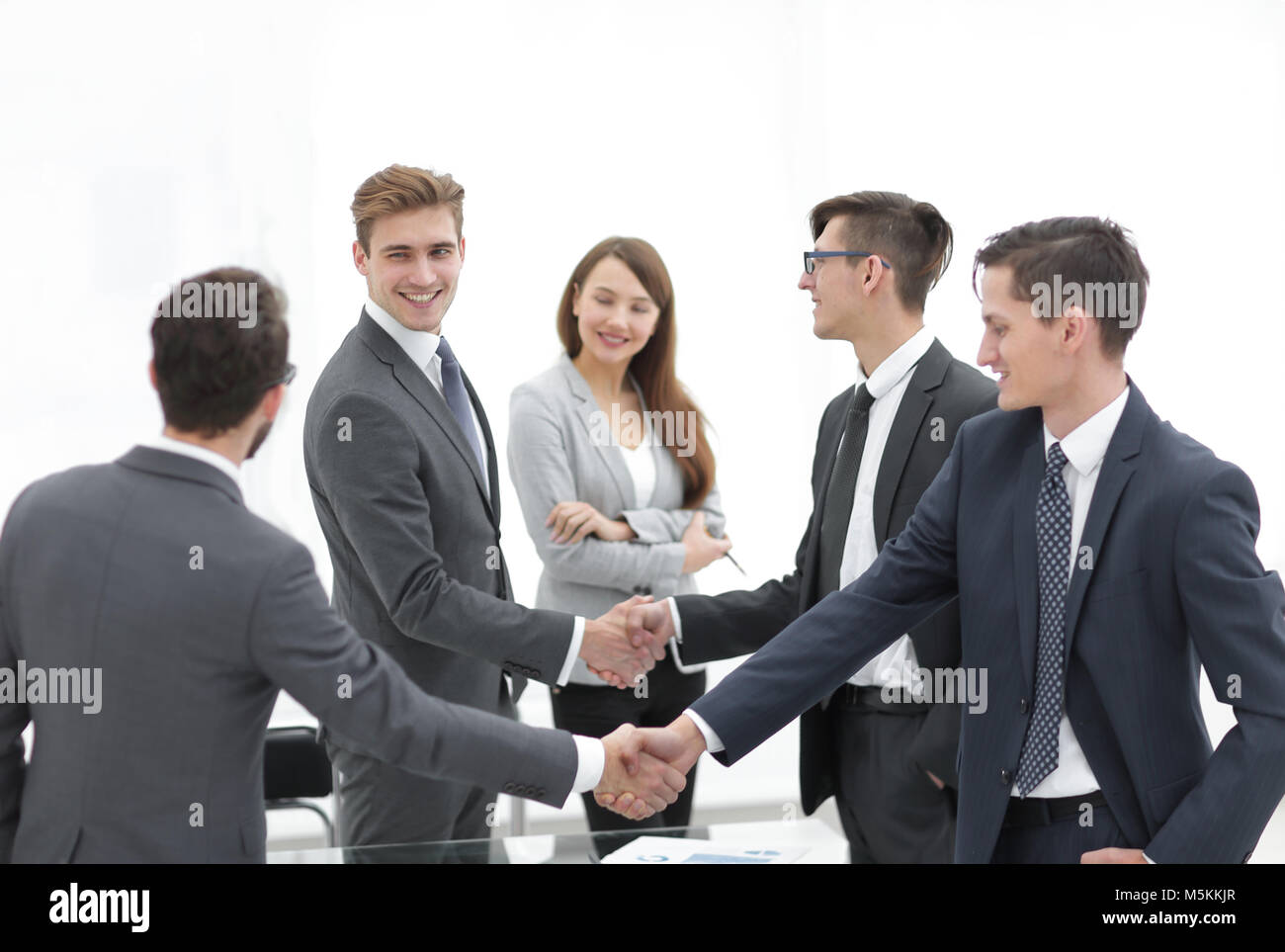 Business Professionals Shaking Hands