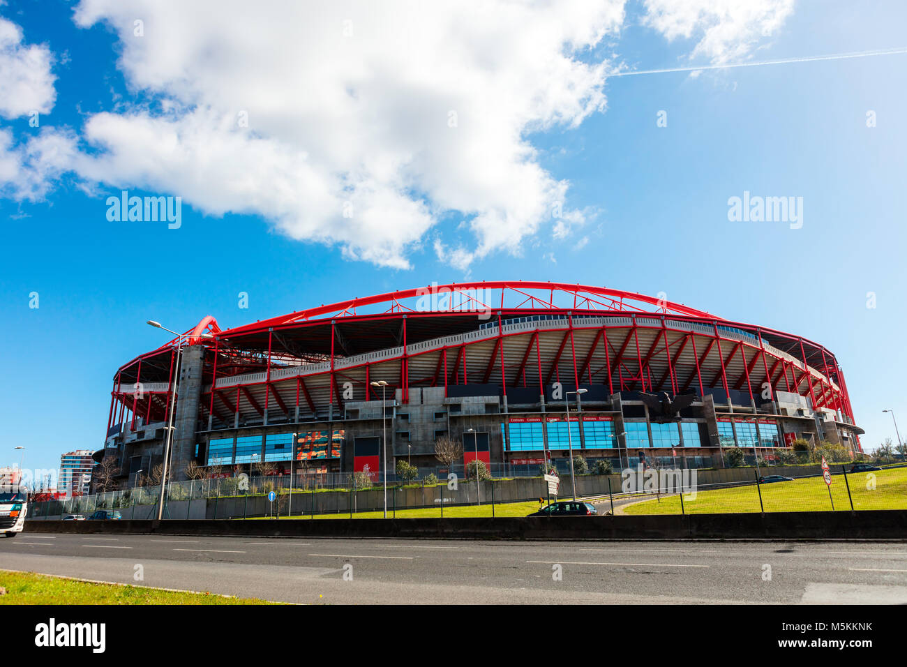 Sport Lisboa e Benfica, a Premier League Portuguese sports club based in Estdio da Luz in Lisbon, Portugal. - Stock Image