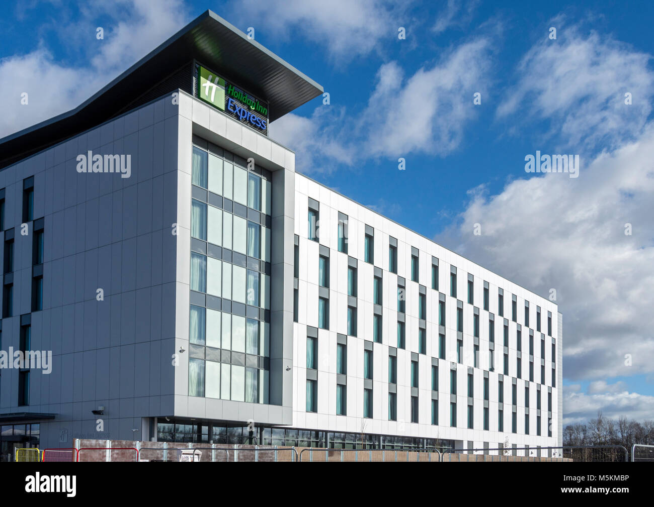 The Holiday Inn Express building, Barton Dock Road, near the Trafford Centre, Manchester, UK - Stock Image