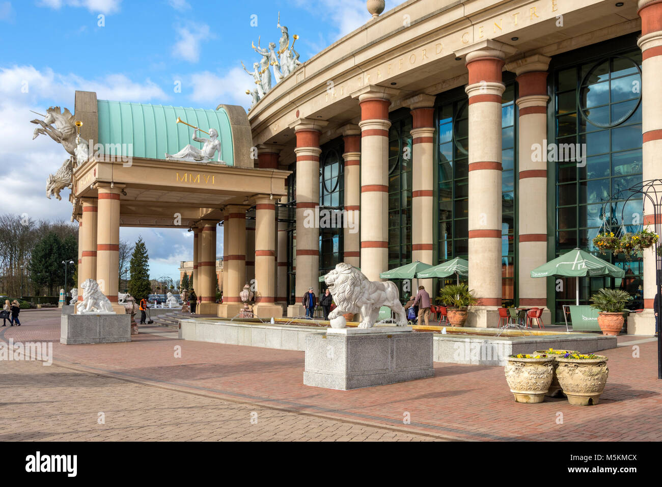 Entrance to the intu Trafford Centre, Manchester, UK - Stock Image