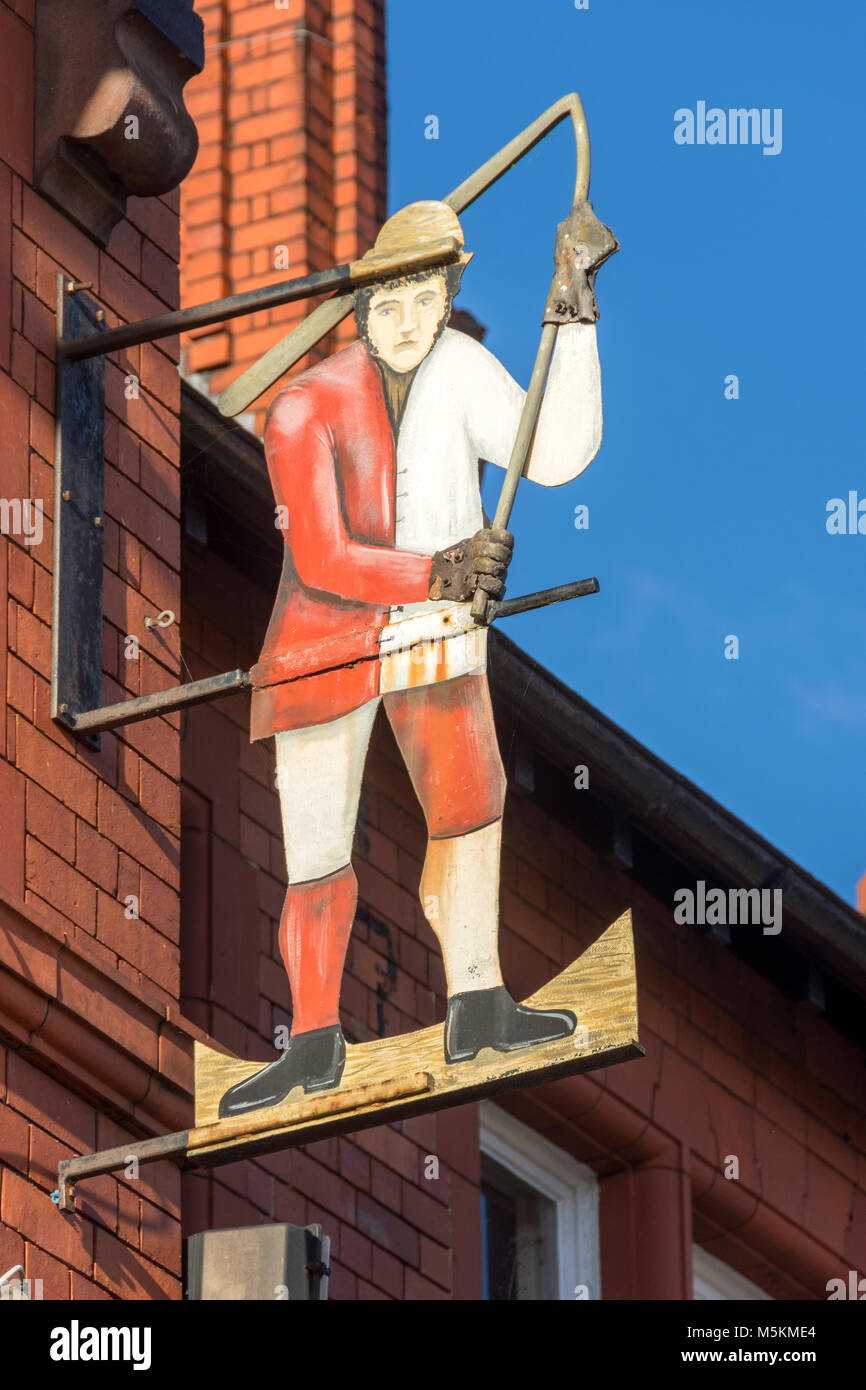 Sign on the Rock House Hotel, Peel Green Road, Barton-upon-Irwell, Eccles, Manchester, UK. - Stock Image