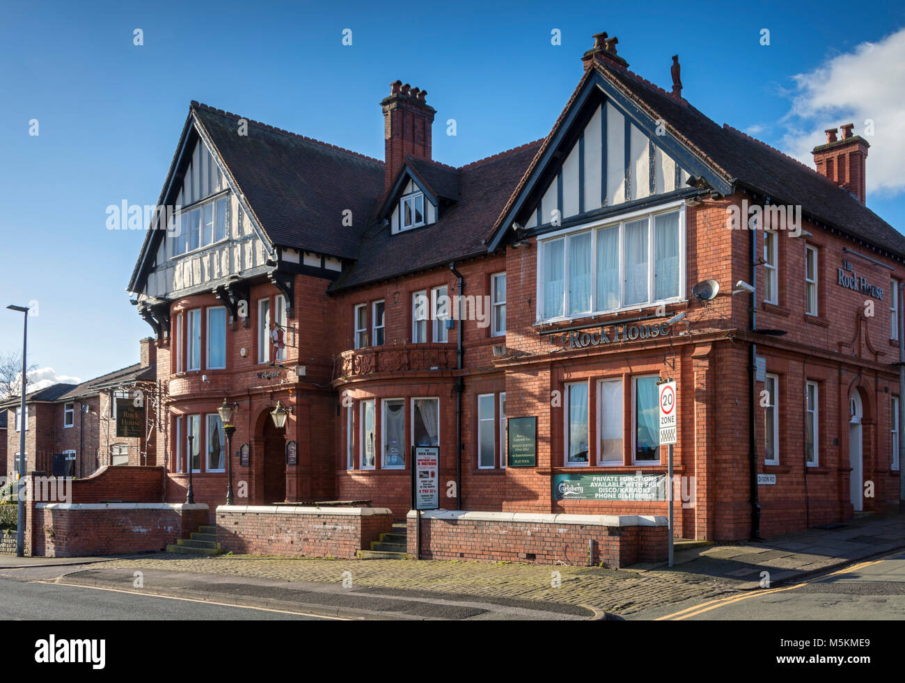 The Rock House Hotel, Peel Green Road, Barton-upon-Irwell, Eccles, Manchester, UK. - Stock Image