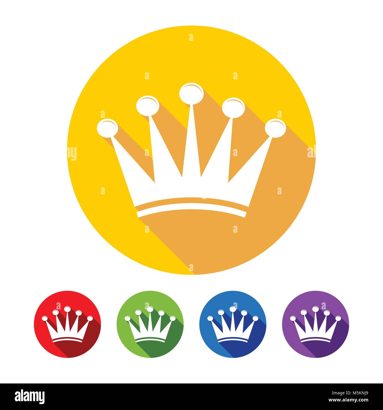 Simple Crown Flat Icons Vector Graphic Design - Stock Vector