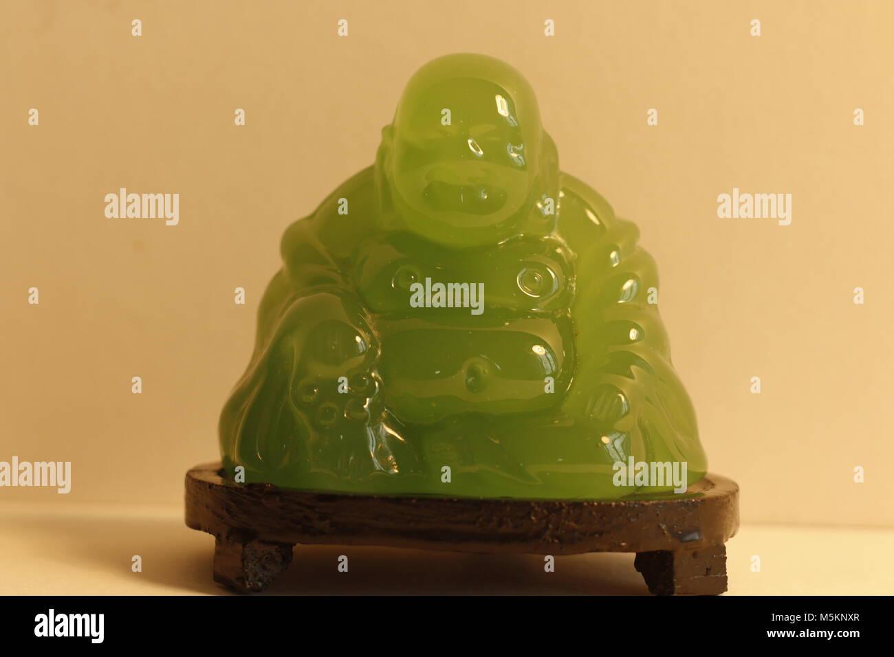 Jade Chinese Buddha - Stock Image