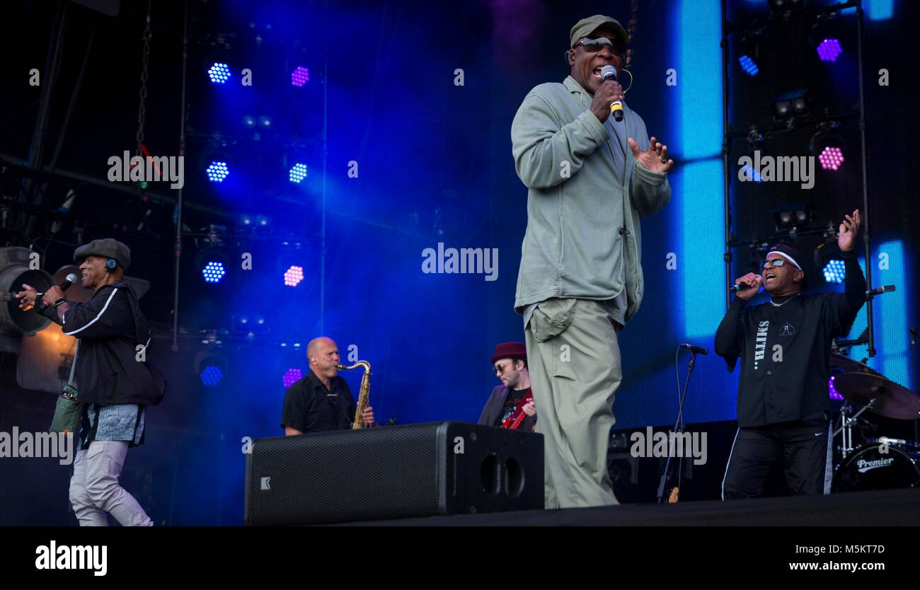 Real thing Can't Get by Without You at Rewind Festival, Scone Palace, Perth, 22 & 23rd July, 2017 Picture: - Stock Image