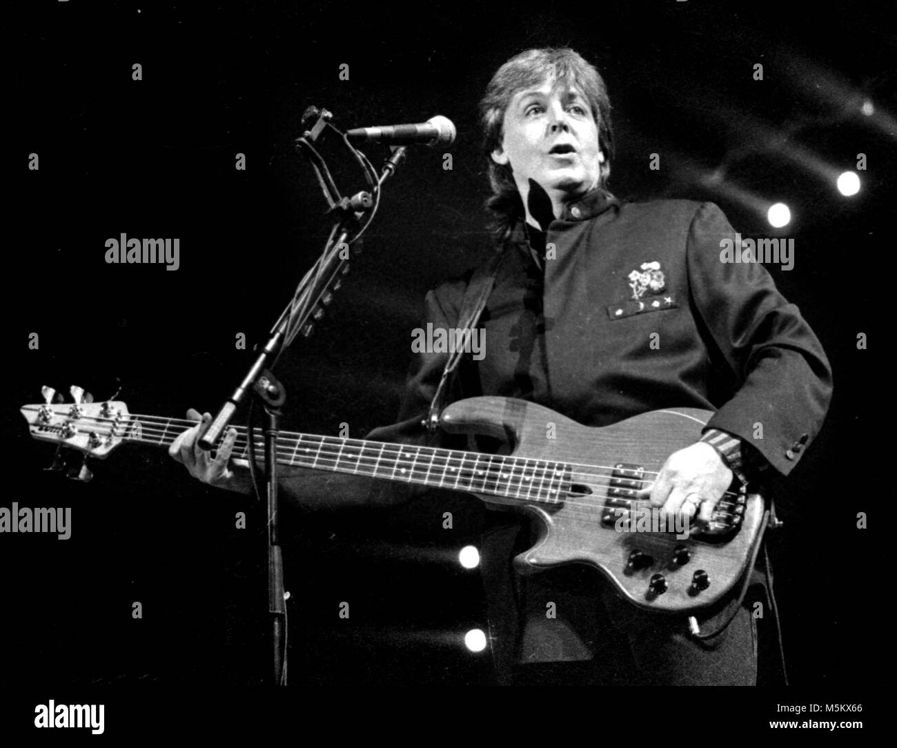 Paul McCartney in concert at the Centrum in Worcester, MA USA 1990 photo by bill belknap - Stock Image