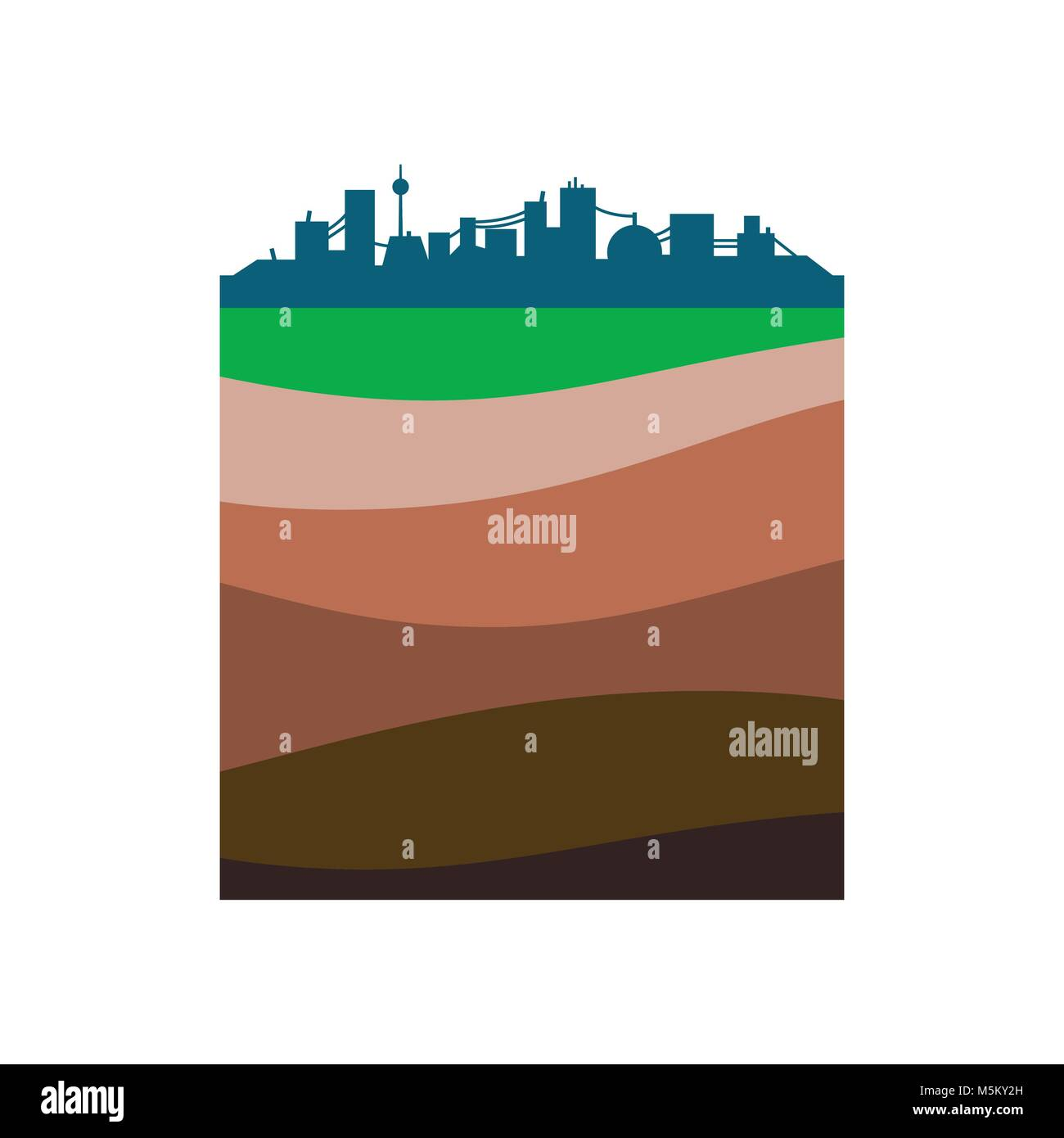 Layers of the earth. - Stock Vector