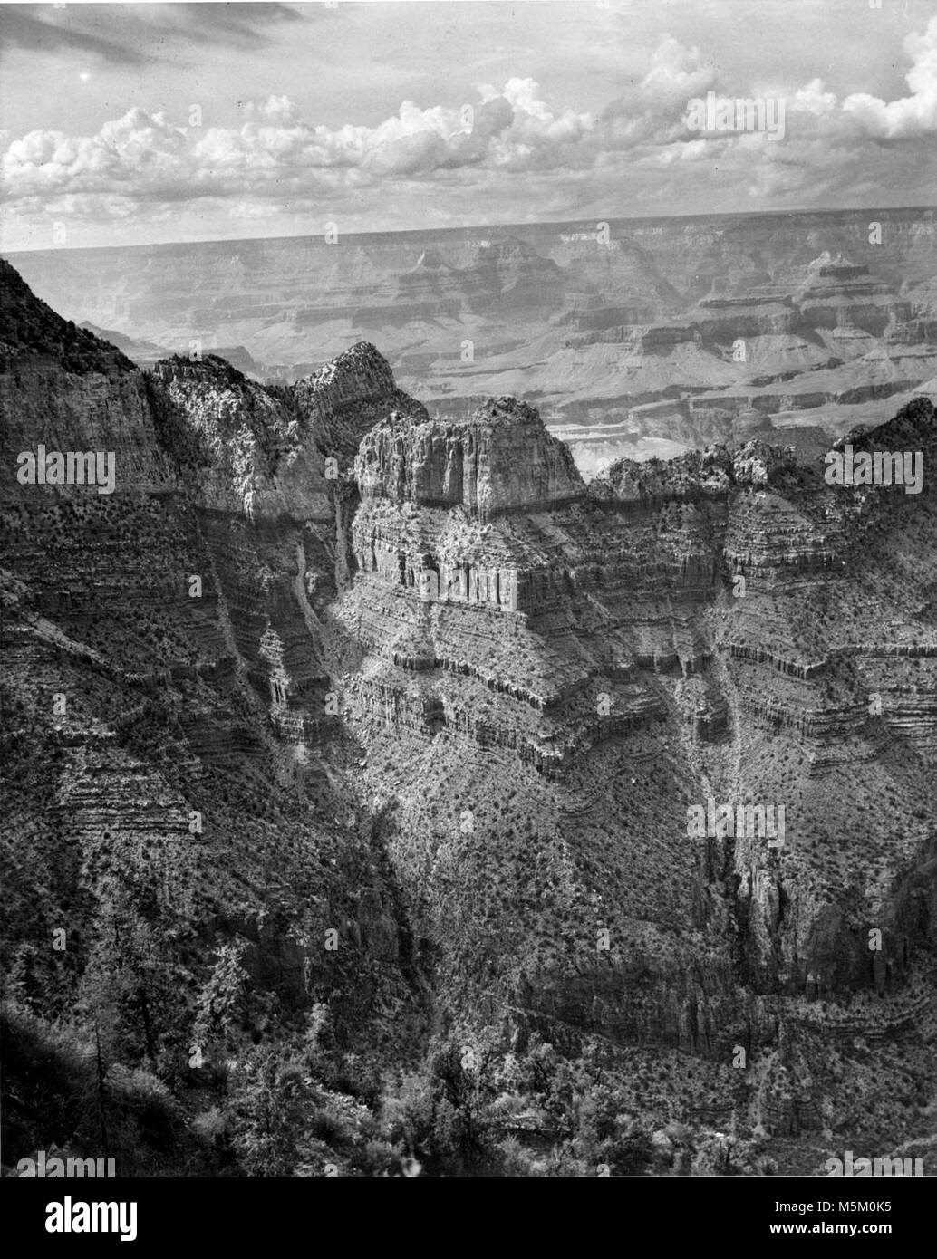 B Grand Canyon Historic Grandview Trail . View of grand canyon from near grandview point.  Grandview to buggeln - Stock Image
