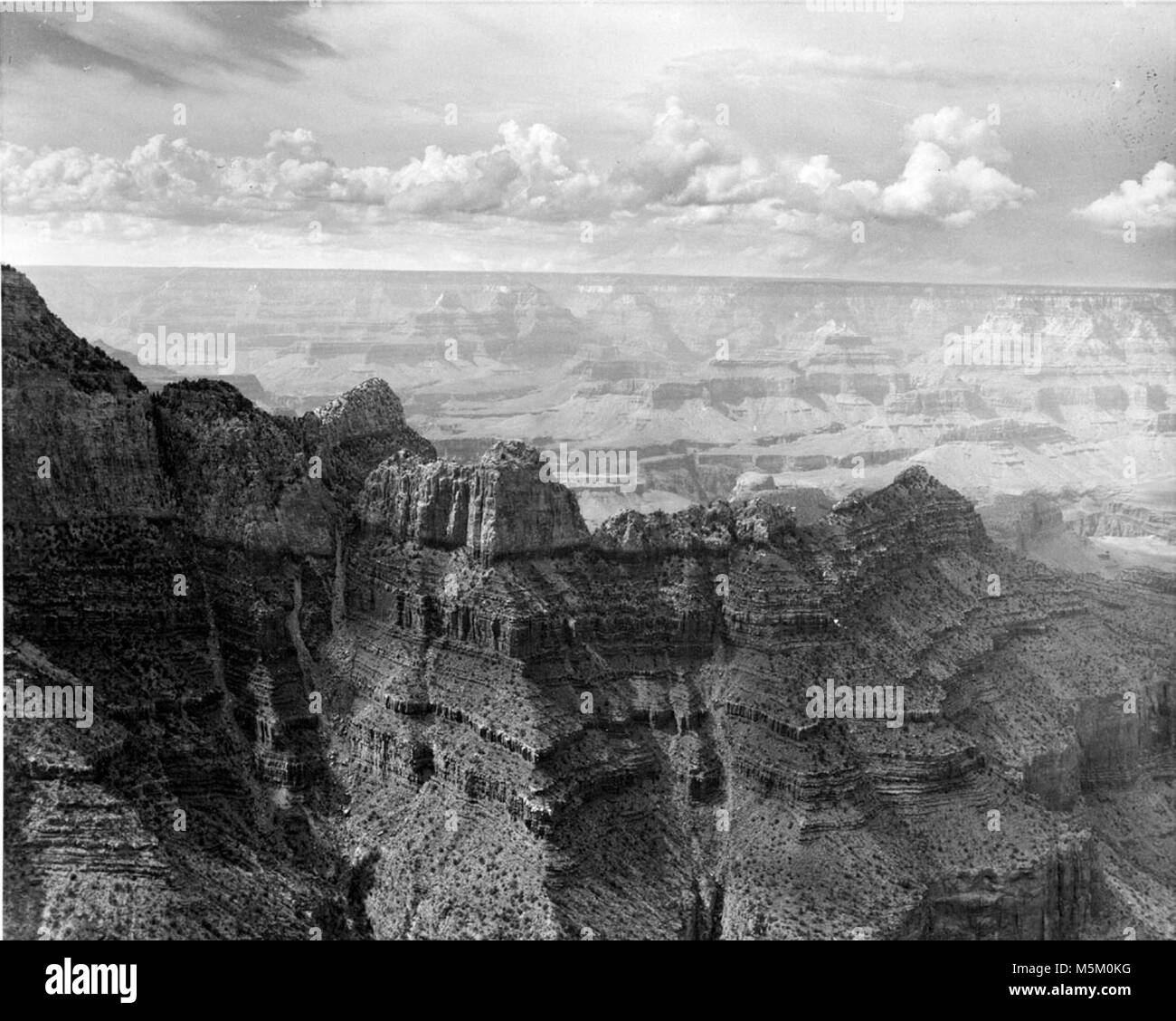 C Grand Canyon Historic Grandview Trail . View of grand canyon from near grandview point.  Grandview to buggeln - Stock Image