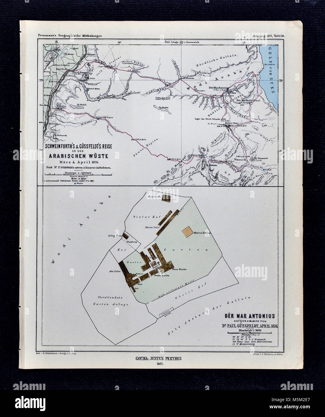 Historical map africa stock photos historical map africa stock 1877 petermann mittheilungen map central africa railroads stock image ccuart Choice Image