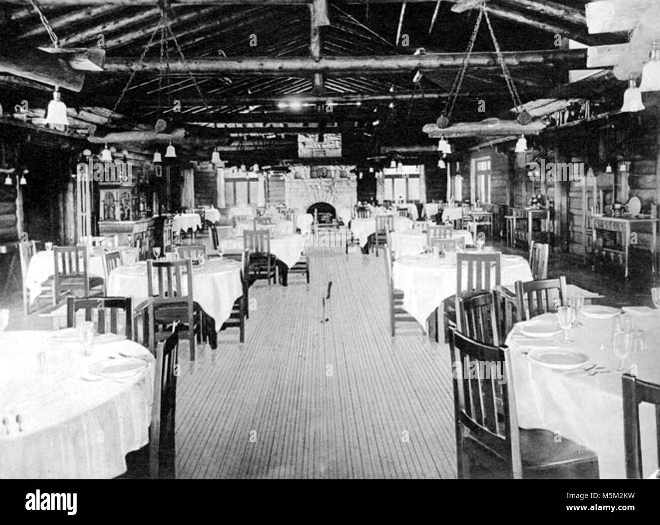 Grand Canyon Historic El Tovar Hotel Dining Room Looking South Stock Photo Alamy