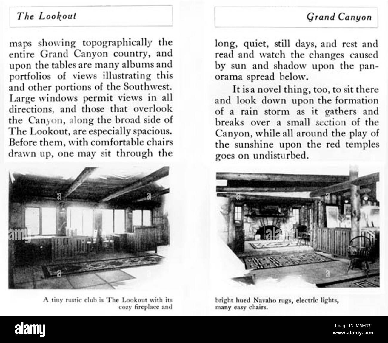 Grand Canyon Historic Lookout Studio Promo Book c  . LOOKOUT STUDIO BY COLTER - PROMO BOOK: TINY RUSTIC CLUB W/ - Stock Image