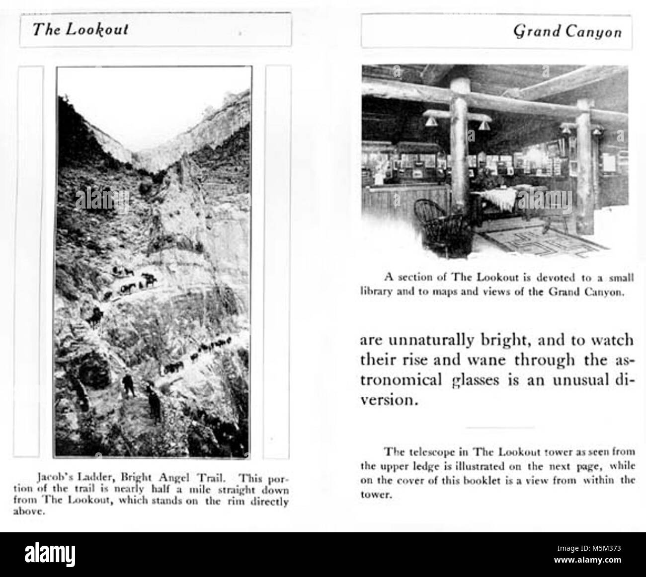 Grand Canyon Historic Lookout Studio Promo Book c  . LOOKOUT STUDIO BY COLTER - PROMO BOOK: A SMALL LIBRARY WITH - Stock Image
