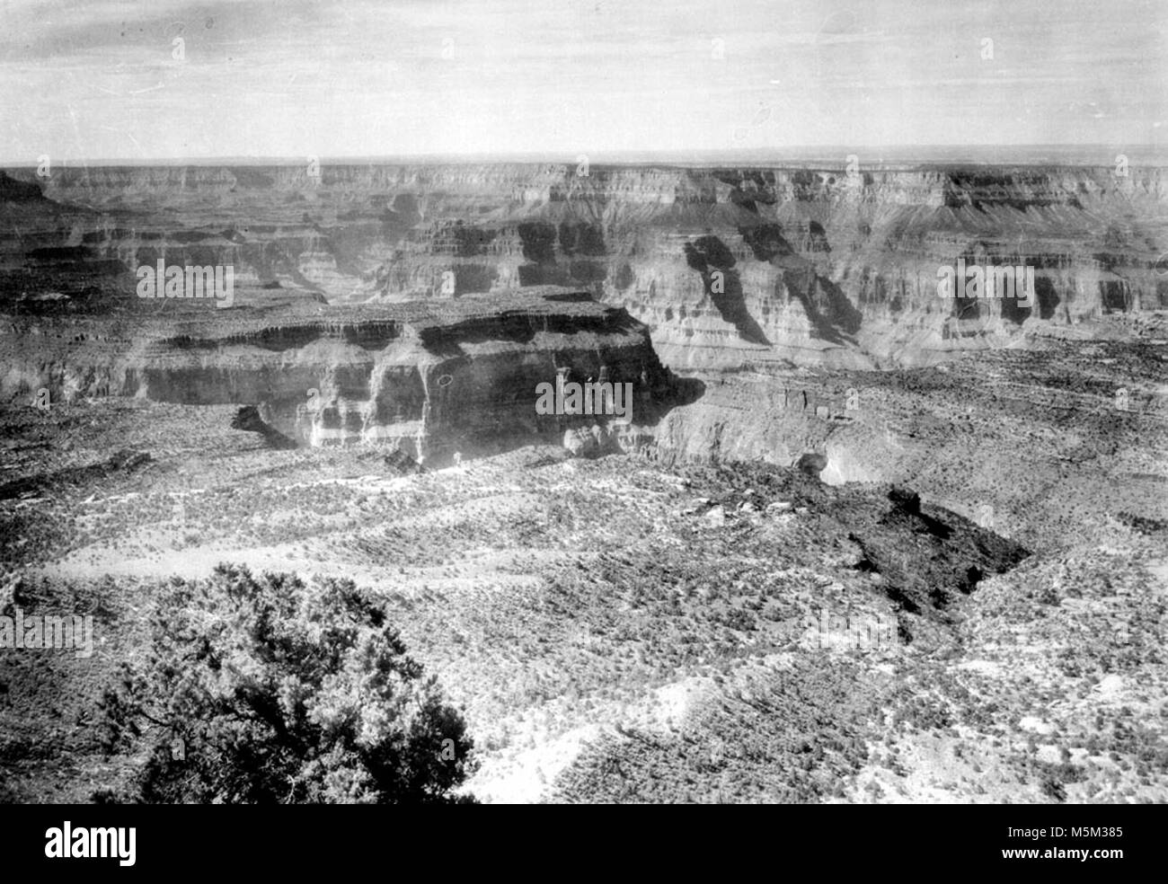 Grand Canyon Crazy Jug Point . VIEW OF CANYON SOUTH FROM CRAZY JUG POINT. CIRCA 1910. Stock Photo