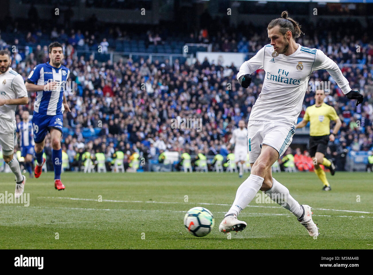 Gareth Bale (Real Madrid) scores to make it (2, 0) La Liga match Stock  Photo - Alamy