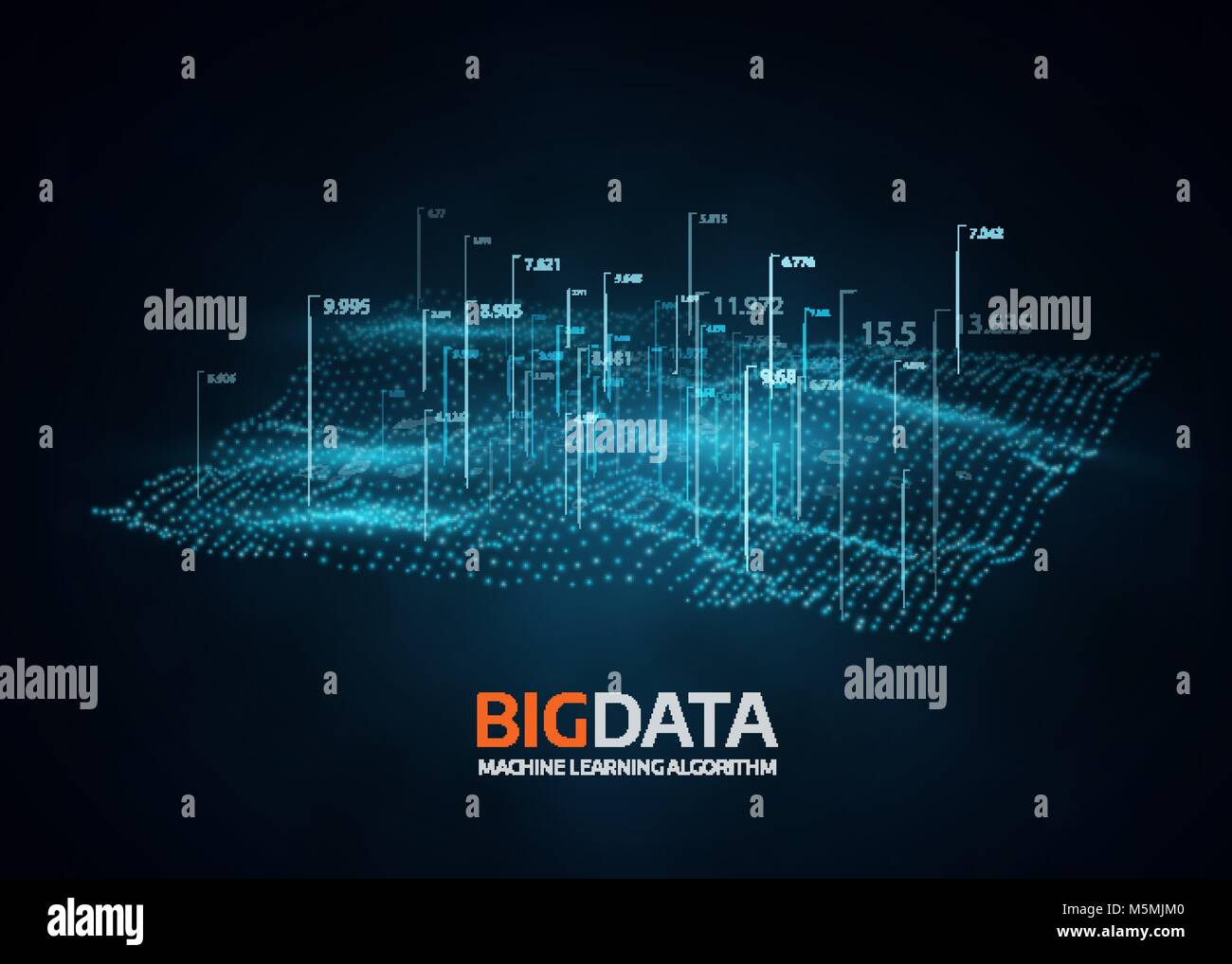 Big data visualization. Futuristic vector background. - Stock Image