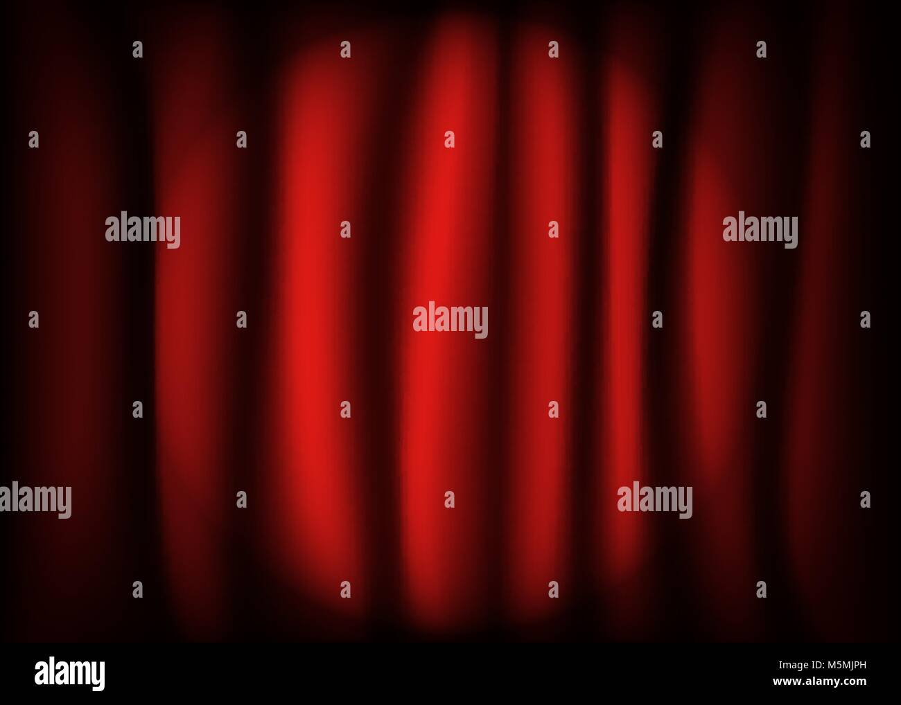 Spotlight on stage   red curtain. - Stock Vector