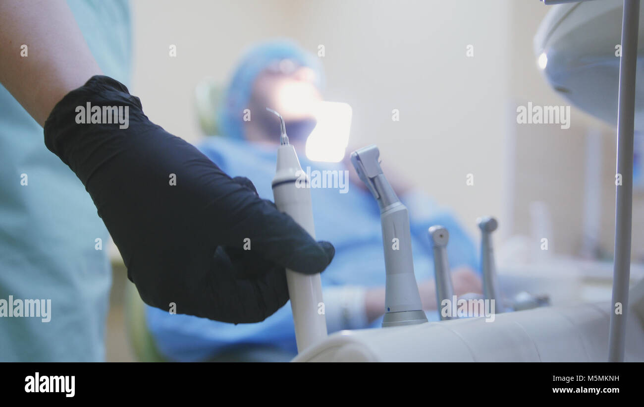 Dentistry - technology equipment of stomatology clinic - Stock Image