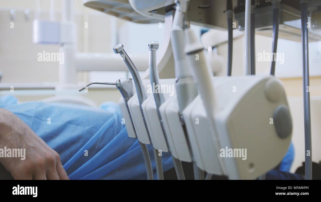 Dentistry - equipment of stomatology clinic - Stock Image