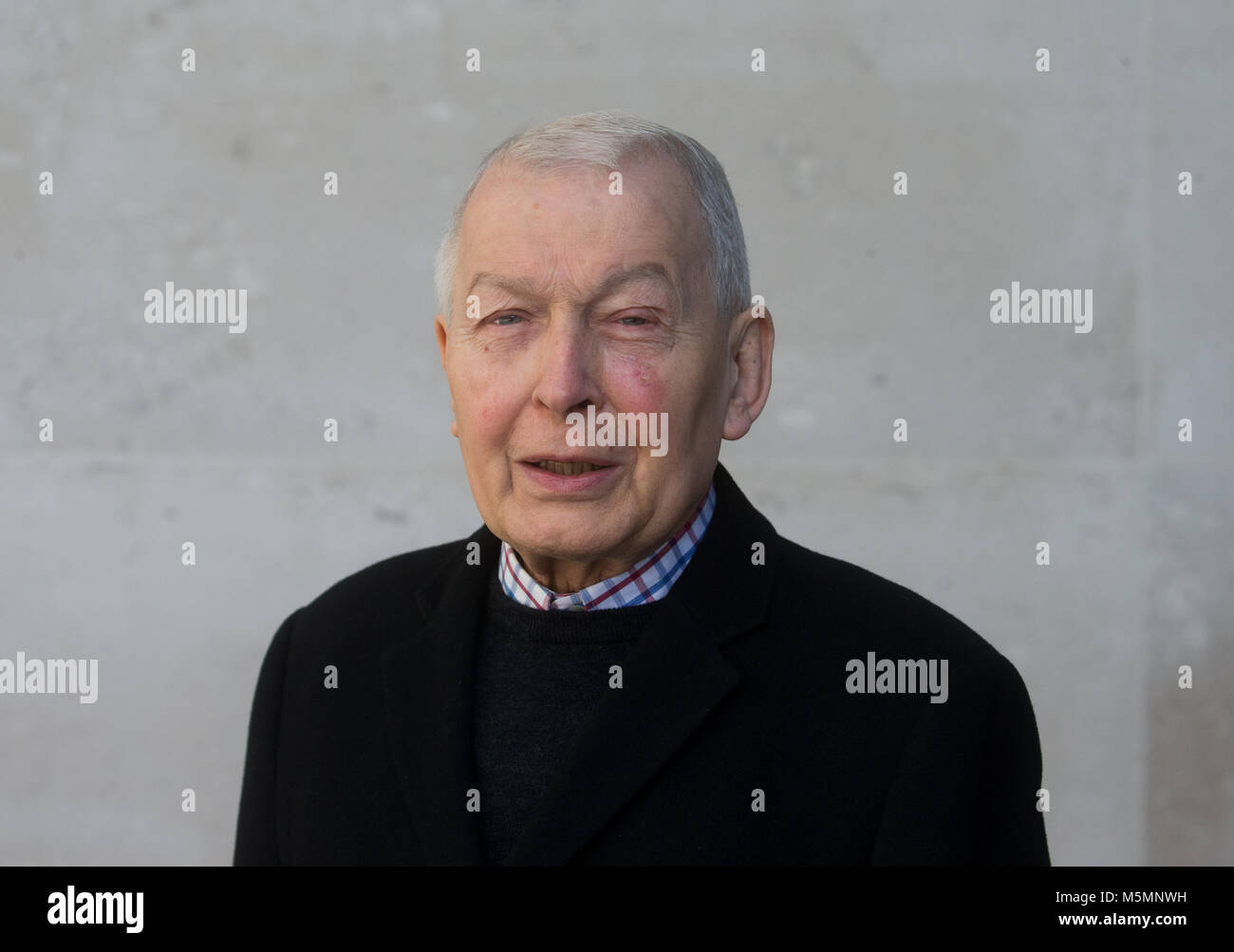 Labour MP for Birkenhead and Chairman of the Work and Pensions Committee, Frank Field arrives at the BBC studios Stock Photo