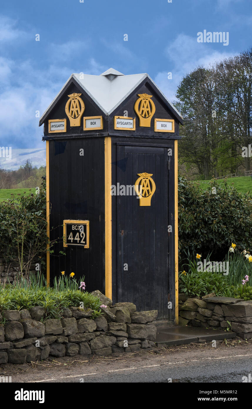 AA Telephone Box Automobile Kiosk - Stock Image