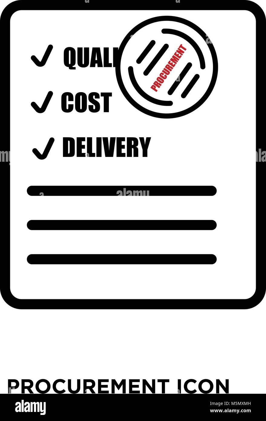 procurement icon vector stock vector art amp illustration