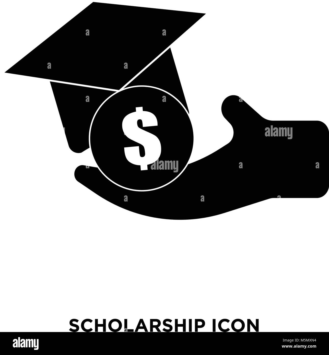 scholarship icon vector - Stock Vector
