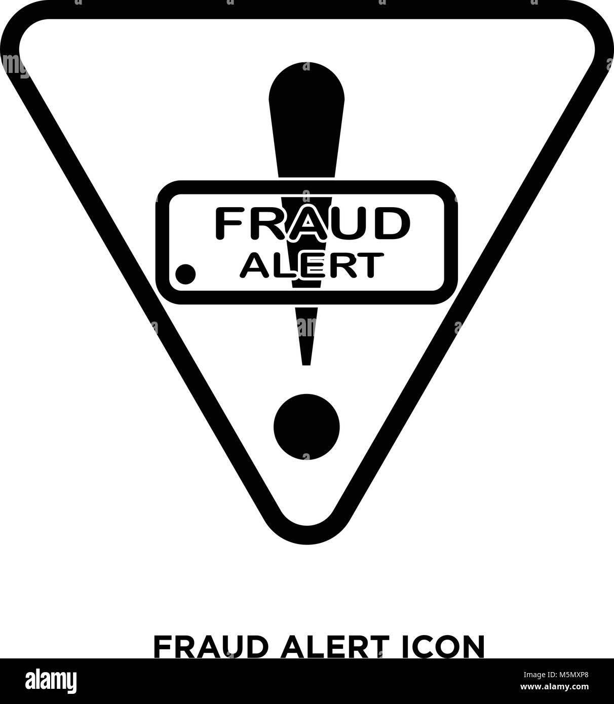 fraud alert icon - Stock Vector