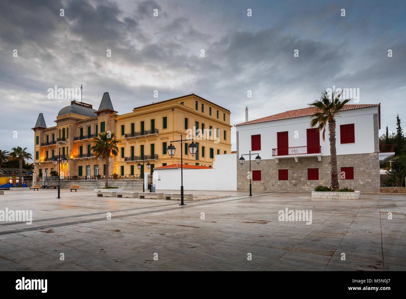 Poseidonion Grand Hotel on Spetses island, Greece. - Stock Image