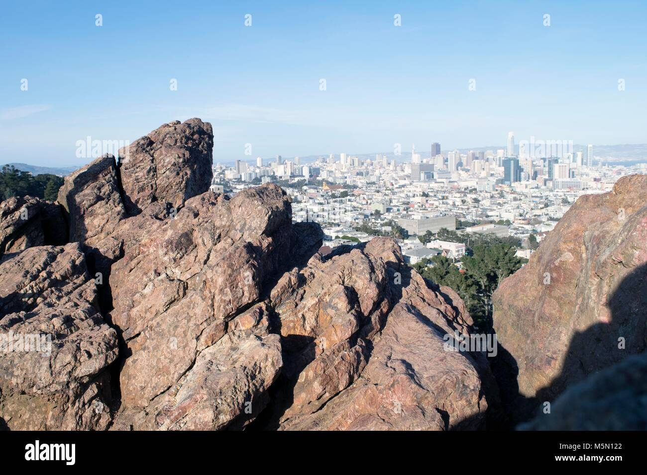Corona Heights provides a great view of San Francisco Stock Photo