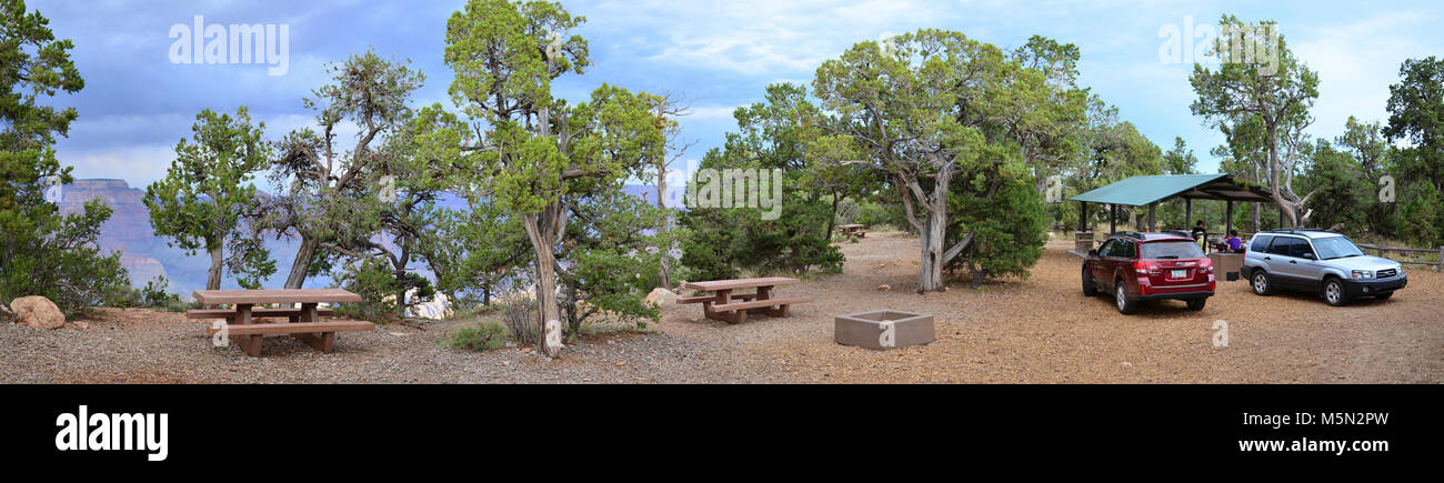 Grand Canyon National Park Shoshone Point Event Site  . The National Park Service offers a site on the South Rim - Stock Image