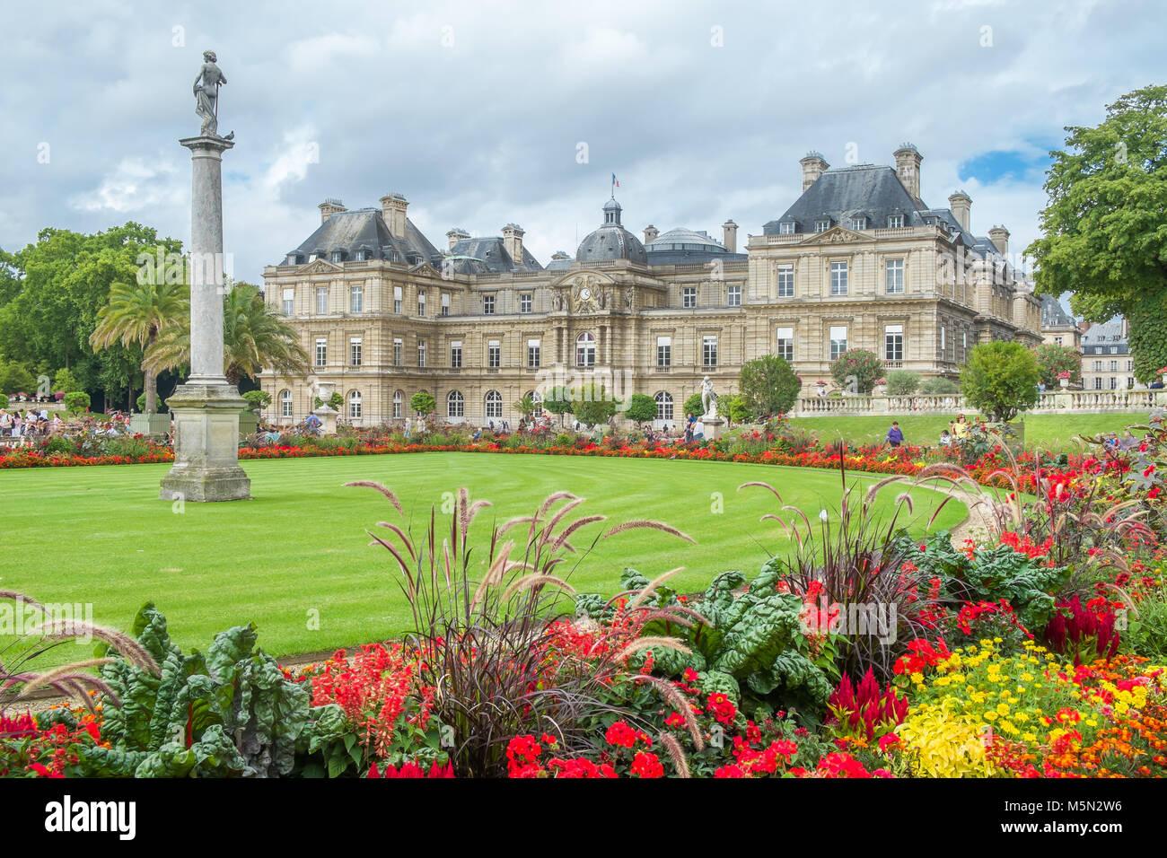 Place du Luxembourg, Paris, France - Stock Image